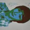 Selbstporträts als Mehrfarben-Linolschnitt_18